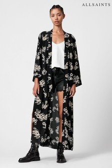 AllSaints Black Jasmine Print Carine Kimono