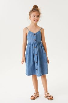 Denim Midi Dress (3-16yrs)