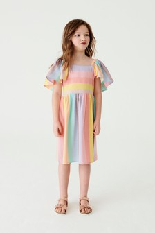 Rainbow Stripe Dress (3-16yrs)