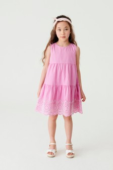 Broderie Tiered Dress (3-16yrs)