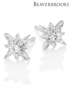 Beaverbrooks Cubic Zirconia Star Stud Earrings
