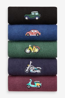Embroidered Socks 5 Pack