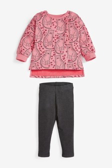 Leopard All Over Print Crew Sweat Top (3mths-7yrs)