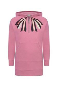 GUCCI Kids Girls Pink Hooded Sweater Dress