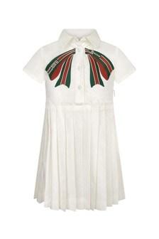 Girls Ivory Cotton Dress