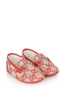 Red GG Pre-Walker Loafers