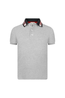Boys Grey Pique Polo Top