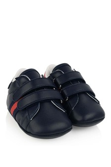 GUCCI Kids Leather Pre Walker Trainers