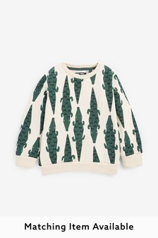 Crocodile Print Crew Neck Sweater (3mths-7yrs)