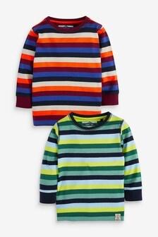 2 Pack Stripe Long Sleeve T-Shirts (3mths-7yrs)