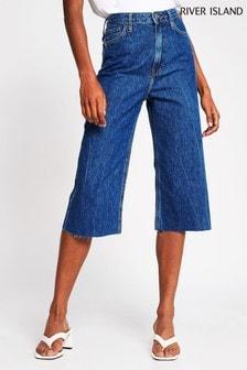 River Island Denim Medium Culotte Jules Jeans