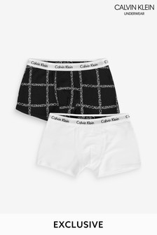 Calvin Klein Black Modern Cotton Next Exclusive Trunks Two Pack