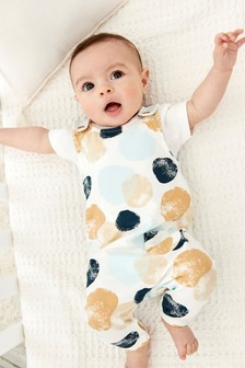 Spot Dungaree And Bodysuit Set (0-18mths)