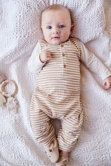 Stripe Dungaree and Bodysuit Set (0mths-2yrs)