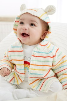 Rainbow Stripe Cardigan (0mths-2yrs)