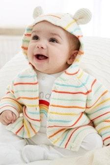 Rainbow Stripe Cardigan (0mths-2yrs)