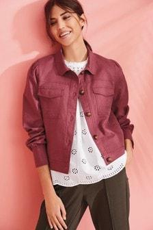 Linen Blend Relaxed Jacket