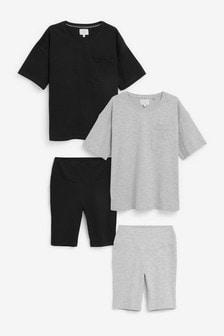 Cycling Short Pyjamas Two Pack