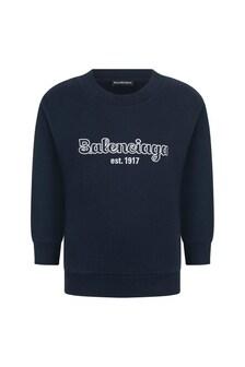 Balenciaga Kids Logo Sweater