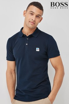 BOSS x Russell Athletic Blue Petroc Polo