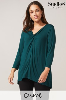 Studio 8 Green Heidi Twist Top