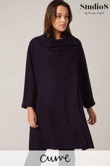 Studio 8 Purple Bellona Knit Coat