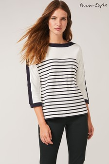 Phase Eight Cream Belle Stripe Top