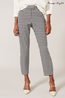 Phase Eight Black Gigi Dogtooth Trousers