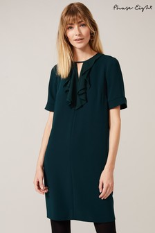 Phase Eight Green Felicity Frill Dress
