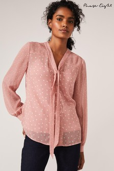 Phase Eight Neutral Eleanor Spot Blouse