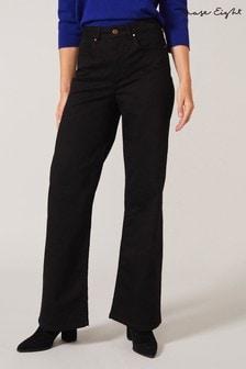 Phase Eight Black Viona Wide Leg Jeans