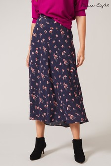 Phase Eight Blue Anemone Floral Printed Skirt