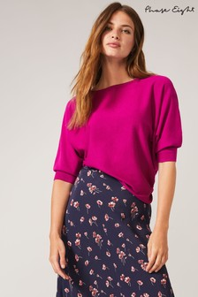 Phase Eight Purple Cristine Knit Top