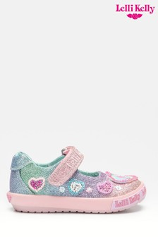 Lelli Kelly Pink Unicorn Gem Dolly Shoes