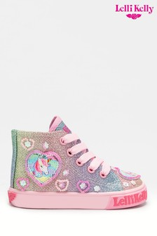 Lelli Kelly Pink Unicorn Gem High Top Trainers