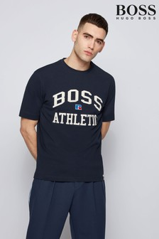 BOSS x Russell Athletic Blue T-Shirt