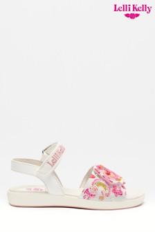 Lelli Kelly White Unicorn Sandals