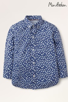 Boden Navy Space Print Party Shirt