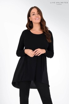 Live Unlimited Curve Jersey Mix Satin Tunic