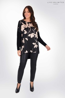 Live Unlimited Curve Floral Top With Jersey Back