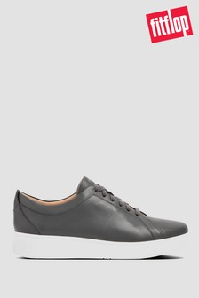 FitFlop® Grey Rally Leather Sneakers