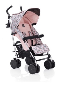 Girls Pink Monster Logo Stroller