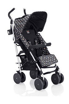 Black Monster Logo Stroller