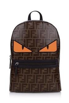 Kids Brown FF Logo Backpack