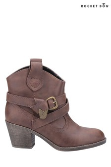 Rocket Dog Brown Satire Ankle Boots