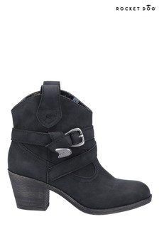 Rocket Dog Black Satire Ankle Boots