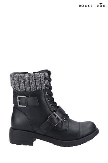 Rocket Dog Black/Black Travis Biker Boots