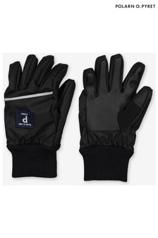 Polarn O. Pyret Black Waterproof Shell Gloves