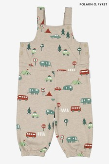 Polarn O. Pyret Grey GOTS Organic Nordic Forest Dungarees