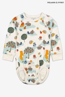 Polarn O. Pyret Grey GOTS Organic Nordic Bodysuit